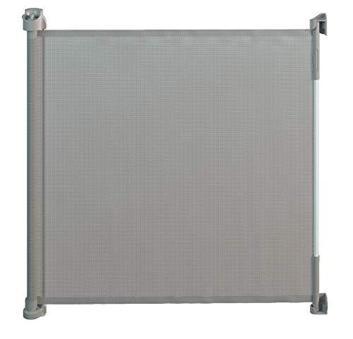 Gaterol Active Lite Grau - Ausziehbares Treppenschutzgitter und Türschutzgitter Rollo bis 140 cm