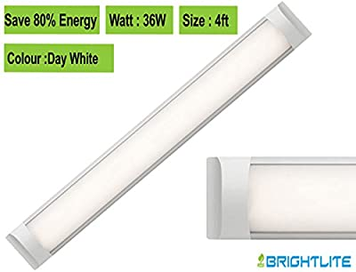 LED Batten slimline Profile Wide Tube Wall and Ceiling Light 4ft 1200x75x24mm 36W Replaces 90W Lifespan 40000h DAY WHITE 4500K Brightness 3600lm - inexpensive UK light shop.