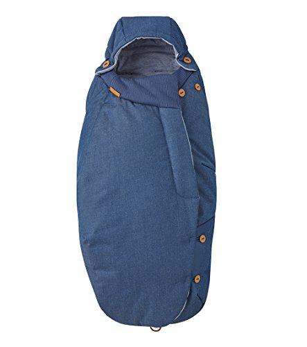 Maxi-Cosi 79209070 Universal-Fußsack, passend für alle Kinderwagen und Buggys, denim hearts