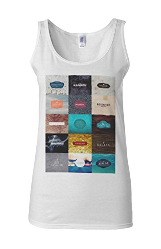 Istanbul City Turkey Holiday Novelty White Femme Women Tricot de Corps Tank Top Vest **Blanc