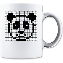 Pixel Panda Cool Geek Taza para Café y Té