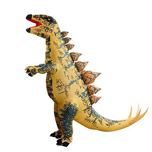 OLLVU Erwachsene Halloween Kreative Schwert Drachen Aufblasbare Neue Dinosaurier Aufblasbare Kleidung COS Anime Puppe Kostüm Leistung Ereignis Requisiten (Color : Multi-Colored, Size : 150-195cm) (Dinosaurier Puppe Kostüm)