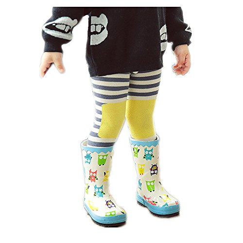 Bluester Kids Toddlers Girls Tights Stretch Pantyhose Tights Stockings Leggings (L, Yellow)