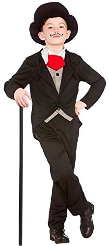 Boys Victorian Gentleman Fancy Dress Up Party Costume Halloween Child Outfit
