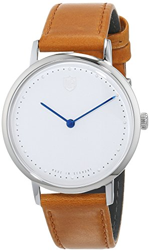 DuFa Herren Analog Quarz Uhr mit Leder Armband DF-9020-02
