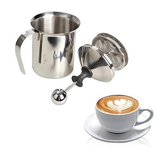 400ml in acciaio INOX montalatte cappuccino Coffee Frother double Froth Pump