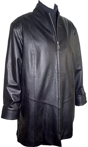 Paccilo Womens 5001 Real Lambskin Leather A line Coat