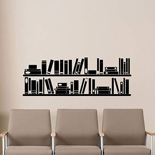 mlpnko Bücherregal Wand Vinyl Aufkleber Lesesaal Bibliothek Schule Klassenzimmer Aufkleber Büro Familie Kinderzimmer Kindergarten Wandbild Poster 118x42cm -