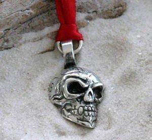 Zinn Totenkopf Tribal Maori Weihnachten Ornament und Urlaub Dekoration