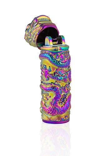 TESLA Lighter T02 Arco más Ligero, Plasma de un Solo Arco, dragón Arco Iris