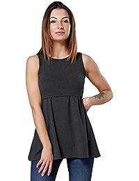 HAPPY MAMA. Para Mujer Camiseta premamá y de Lactancia Cintura Imperio. 098p