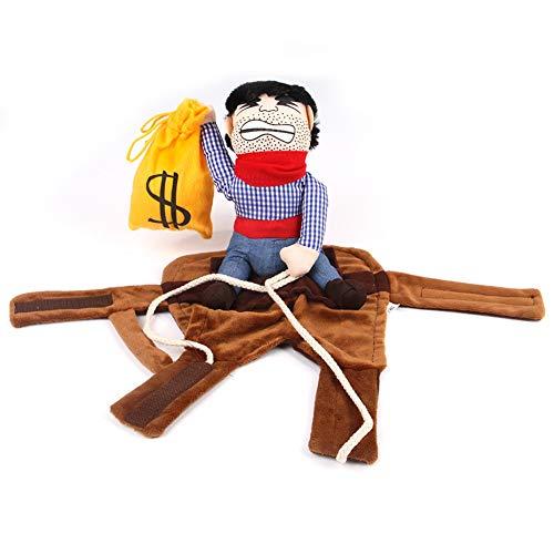 Ritter Kostüm Malteser - Asien Cowboy Reiter Hund Rodeo Hunde Kostüm Ritter Stil Mit Puppe Und Hut Für Halloween Hundebekleidung Größe L