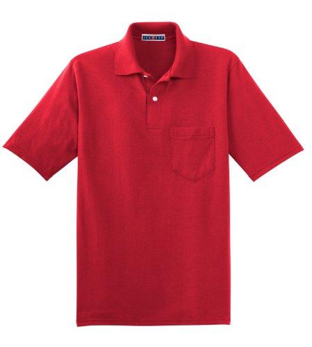 Hockey Symbol auf American Apparel Fine Jersey Shirt True Red