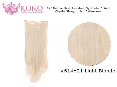 Chaleur de luxe résistant Extensions de cheveux raides - 22\\