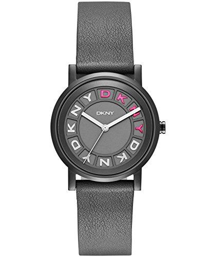 DKNY NY2390 Soho Grey Dial Grey Leather Ladies Watch