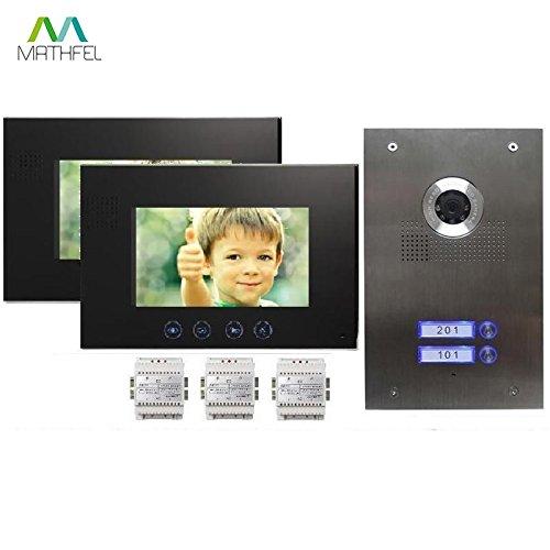 2-Familienhaus Video Türsprechanlage Gegensprechanlage mit 7 '' Monitor
