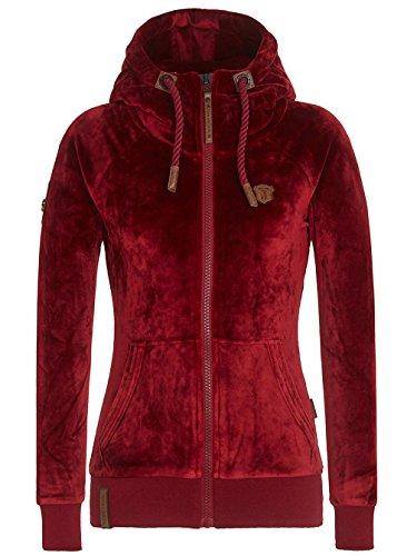 Naketano Female Zipped Jacket Brazzo Mack IV Bordeaux