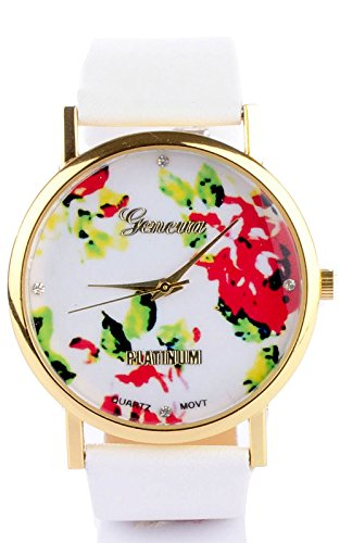 Joker & Witch Floral White Analog printed dial Women's Watch