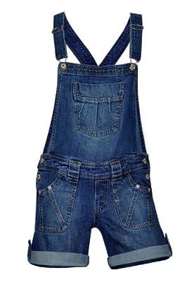 Clove Womens Stretch Denim Shorts Bib Braces Dungarees size 8 10 12 14 16 18 20 22