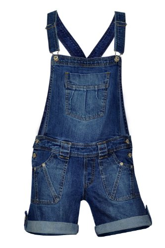 New Clove Womens Stretch Denim Shorts Bib Braces Dungarees Size 8 - 22