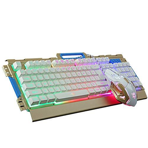 Fdhd USB-Gaming-Spiel Maus Und Tastatur-Set Verdrahtete Beleuchtung Coole Tastatur Und Maus-Set