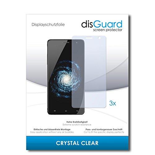 disGuard® Bildschirmschutzfolie [Crystal Clear] kompatibel mit Cubot H1 [3 Stück] Kristallklar, Transparent, Unsichtbar, Extrem Kratzfest, Anti-Fingerabdruck - Panzerglas Folie, Schutzfolie