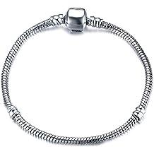 Vnox - Pulsera chapada en plata, para manualidades, para abalorios, el mejor regalo para chicas y mujeres