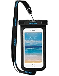 Waterproof Case, Mpow Universal Durable Underwater Case Dry Bag for iPhone 6s/6s plus/5/5s/SE etc; Waterproof Bag for Boating/Hiking/Swimming/Diving(Black)