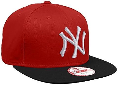 New Era Erwachsene Baseball Cap Mütze MLB 9 Fifty Block NY Yankees Snapback, Scarlet/Black/White, S/M, 10879530
