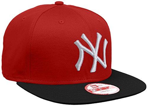 New Era Erwachsene Baseball Cap Mütze MLB 9 Fifty Block NY Yankees Snapback Scarlet/Black/White, S/M Block-logo-hut