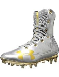 09e3943f1406 Under Armour Men's Highlight Mc - Limited Edition Football Shoe, Metallic  Silver (100)