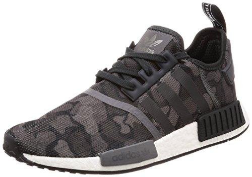 adidas Herren NMD_R1 Derbys, Schwarz (Core Black/Grey Four F17/Grey Five), 44 EU