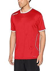 Kempa Curve Camiseta de Juego, Hombre, Rojo / Blanco, M