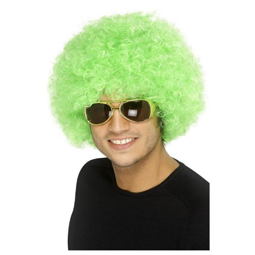 Perruque afro/ clown verte volume adulte