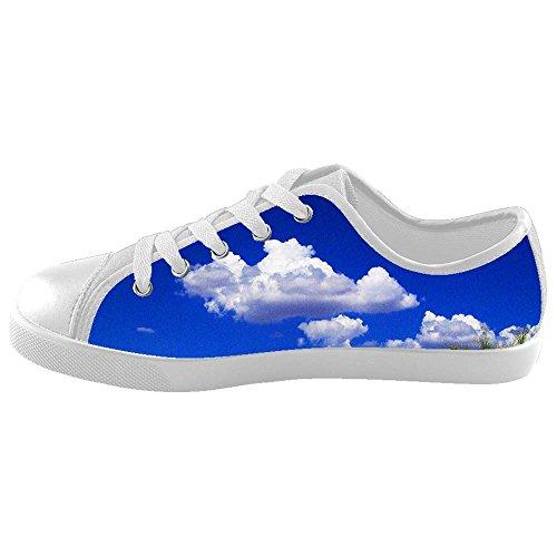 Dalliy Blue Clouds Kids canvas Footwear Sneakers Shoes Chaussures de toile Baskets E