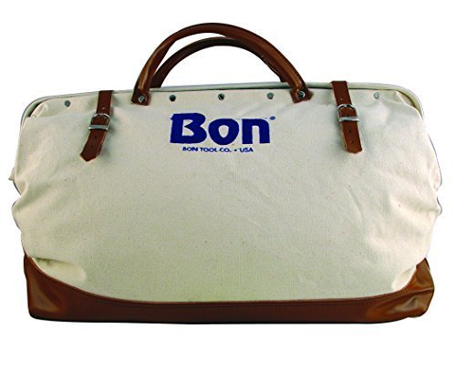 Bon 11-125 20-Inch Heavy Duty Canvas Bag with Leather Bottom by Bon Tool (Tool Heavy Duty Leather Bag)