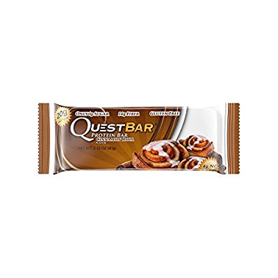 Quest Nutrition Cinnamon Roll Protein Bars - Pack of 12 Protein Bars by Quest Nutrition