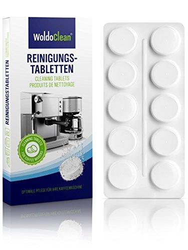 WoldoClean 10x Reinigungstabletten für Kaffeevollautomaten und Espressomaschinen in Blister...