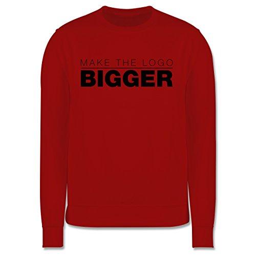 Designer - Make The Logo Bigger - Grafiker - Herren Premium Pullover Rot