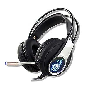 KARTELEI Gaming Kopfhörer Stereo Noise Cancelling Ergonomie Leichtes Headset für PC, Xbox One, PS4, Nnintedo Switch