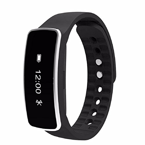 OverDose Smart Armband Schlaf Sports Fitness Activity Tracker Pedometer Armband Uhr- Kompatibel mit Android auf iOS-System (Schwarz)