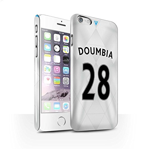 Offiziell Newcastle United FC Hülle / Glanz Snap-On Case für Apple iPhone 6 / Coloccini Muster / NUFC Trikot Away 15/16 Kollektion Doumbia