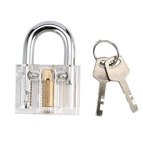 Visible Pick Cutaway Practice Vorhängeschloss mit Schlüsselbruch Entfernen von Haken Lock Kit Extractor Set Locksmith Tool -