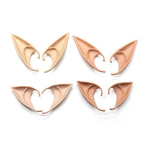 ren Cosplay Soft Latex Tip Reparatur Tips Ohren Party Dress Up Kleidung Zubehör (helle Haut und dunkle Haut) ()
