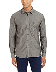 Parx Mens Casual Shirt (8907254451591_XMSS05293-K4_40_Black)