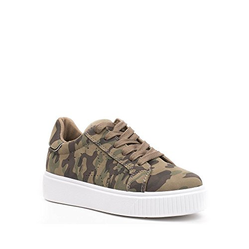 Ideal Shoes, Damen Sneaker militaire
