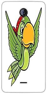 Snoogg Flying Parrot Vector Cartoon Illustration Designer Protective Back Cas...