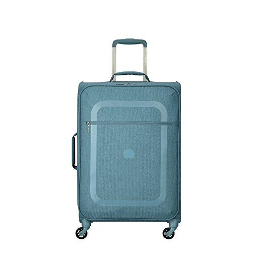 DELSEY PARIS DAUPHINE 3 Koffer, 77 cm, 99 liters, Blau (Bleu Métallique) -