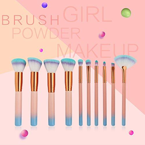 Brosse de Maquillage Yiitay 7 pcs Professional Fond de teint Brosse de Kabuki Mélange Poudre Brosse