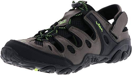 Vista Damen Herren Trekkingsandalen Outdoorschuhe schwarz/anthrazit/grün, Größe:46, Farbe:Anthrazit